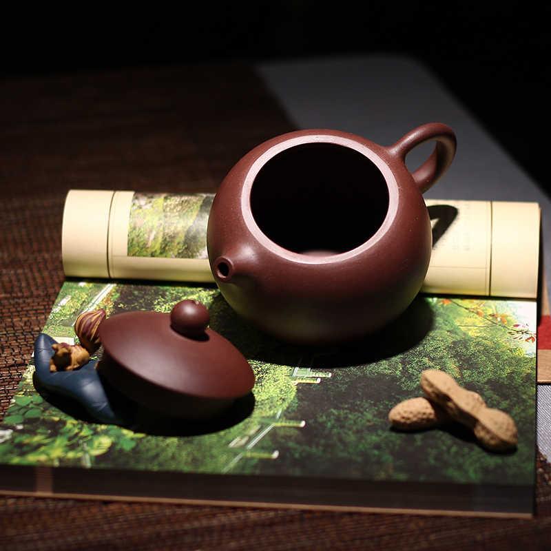 Cina Yixing Tanah Liat Pot Teh Kungfu Tangan Membuat Pot Dahongpao Lumpur Set Teh Teko 188 Ball Hole 290 Ml