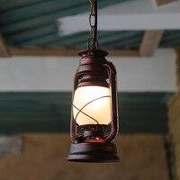 Kerosene Lamp Chinese Old Oil Lamp Retro Vintage Lantern Classic Antique Bar Table Cafe Balcony Iron Chandelier