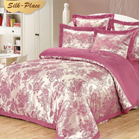 SILK PLACE Cotton sleeping Bedding Set With Duvet Cover Comfortable Pillow Case Fabric Bed Linen Queen King Family Double Size