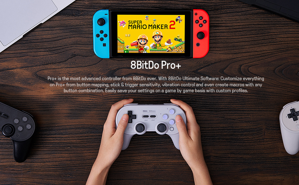 SN30 pro plus Official 8BitDo SN30 PRO+ Bluetooth Gamepad Controller with Joystick for Windows Android macOS Nintendo Switch 13