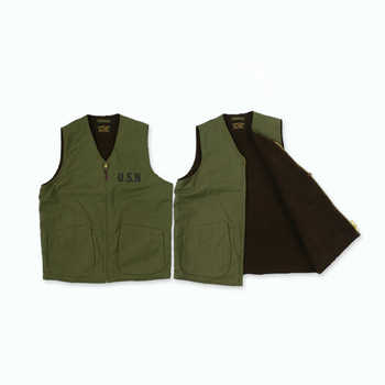 WW2 USN Mens Navy Fleece Vest Vintage Thick Winter Wool Waistcoat American Casual Woolen Sleeveless Jacket Military Uniform XL - DISCOUNT ITEM  10% OFF All Category