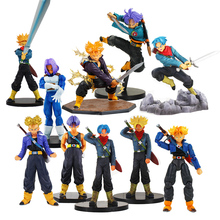 Dragon Ball Z Super Saiyan Trunks Soul Action Figure DXF Resolution of Soldiers Future Trunks Model Toy Children Gift