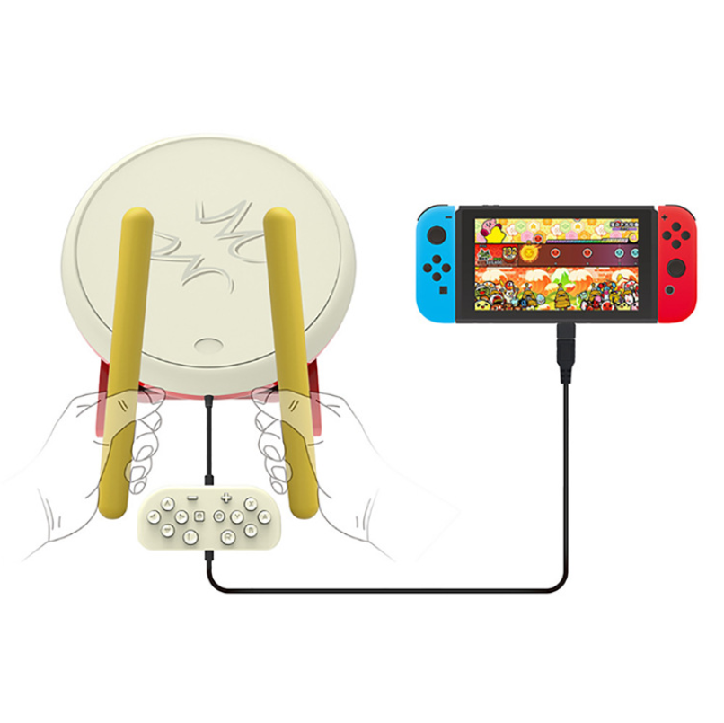 New Taiko Drum Kit For Nintendo Switch Taiko Drum Sticks Dedicated Stand & Controller For NS Taiko Drum Game Special Drums PadNew Taiko Drum Kit For Nintendo Switch Taiko Drum Sticks Dedicated Stand & Controller For NS Taiko Drum Game Special Drums Pad