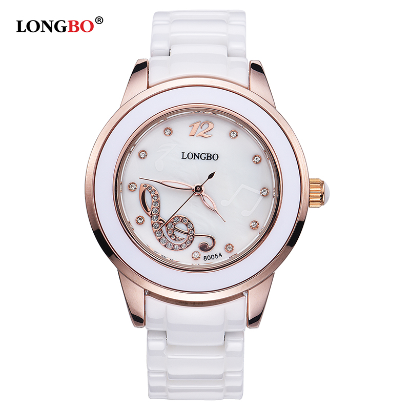 LONGBO Casual Women Watches Luxury Ceramic Ladies Quartz Wrist Watch Female Clock Relojes Mujer Wristwatch Montre Femme Gift luxury brand women diamond quartz watch ladies female dress wristwatch rotatable dial watche s montre femme relojes mujer