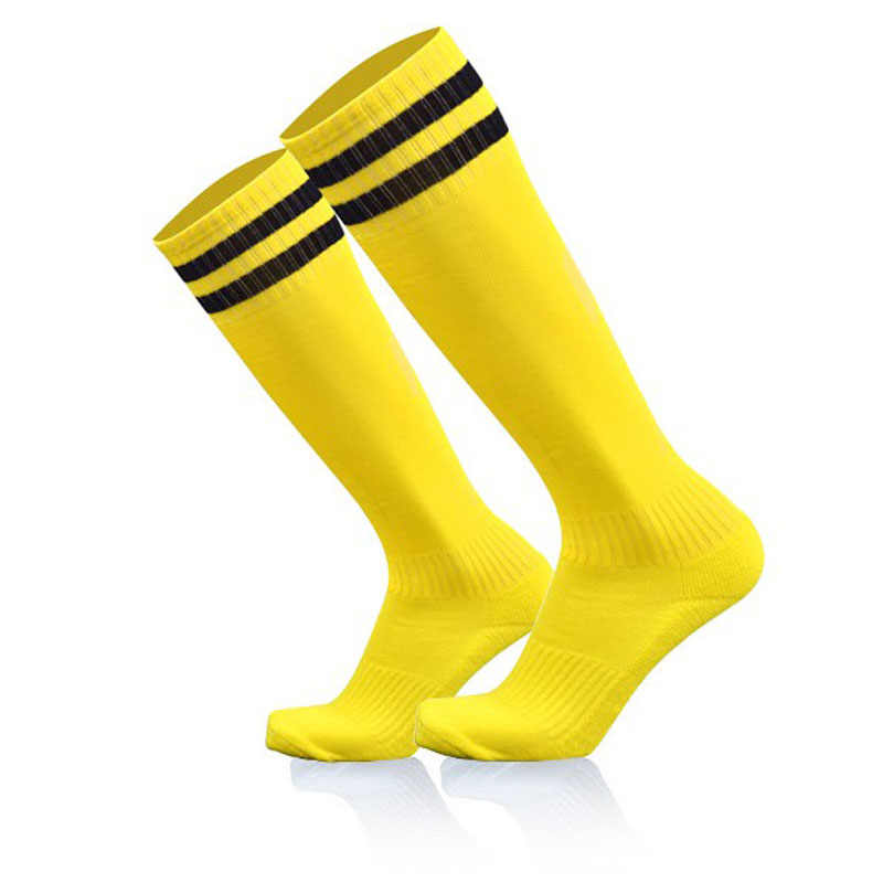 1 Pair High Quality Cotton Long Socks Hygroscopic Anti-slip Man & Women Football Socks Solid Color Striped High Socks 11 Colors
