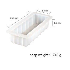 Image 3 - סיליקון סבון עובש מלבן 10Loaf עובש גמיש DIY סבון ביצוע ספקי