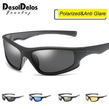 цены на 2019 New Polarized SunglasseS Men UV400 Anti-glare Sun Glasses Black PC Frame Outdoor Sport Goggles De Sol Gafas P1045  в интернет-магазинах