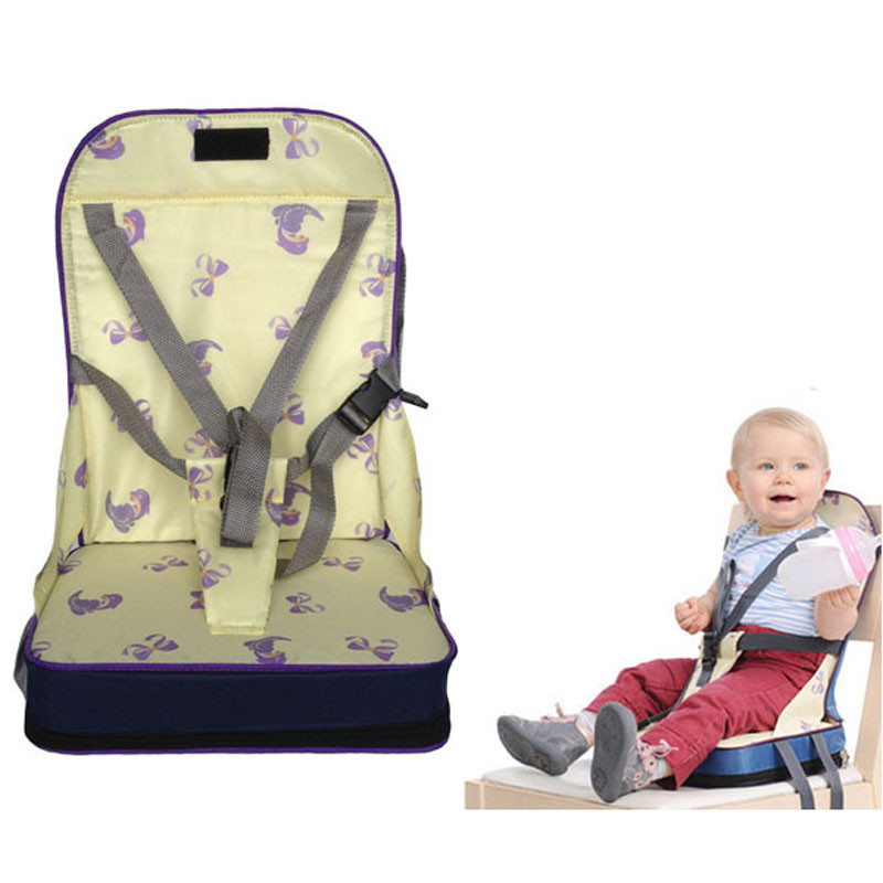 1Pcs Baby Safety Portable Booster Dinner Chair Oxford Waterproof Chair Fashion Seat Feeding Highchair for Baby