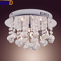 IWHD Round Modern LED Crystal Ceiling Lamp Home Lighting Living Room Lights LED Ceiling Light Fixtures
