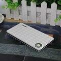 Astilla Ultra-delgado Banco de la Energía 10000 mah Dual USB batería de Li Polímero Batería Externa Powerbank Cargador Portátil con 1 m cable de teléfono