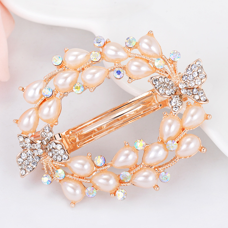 1 PCS Creative Shiny Rhinestone Hair Clips Butterfly and Flower styling Hair Pins the Bride Hair Decoration Supplies Hot Sale in Hair Clips Pins from Beauty Health