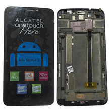 Original For Alcatel One Touch Hero OT8020 8020 8020D LCD Screen display and frame with Touch Screen Digitizer Assembly