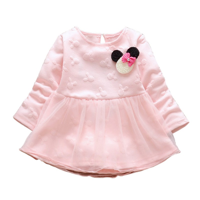 Princess Dress Girls Long Sleeve Lovely Baby Girl Dresses Autumn Newly Kids Girl Clothes girl dress princess autumn 2018 fashion flowers embroidery denim dress girls long sleeve turn down collar kids clothes b0659