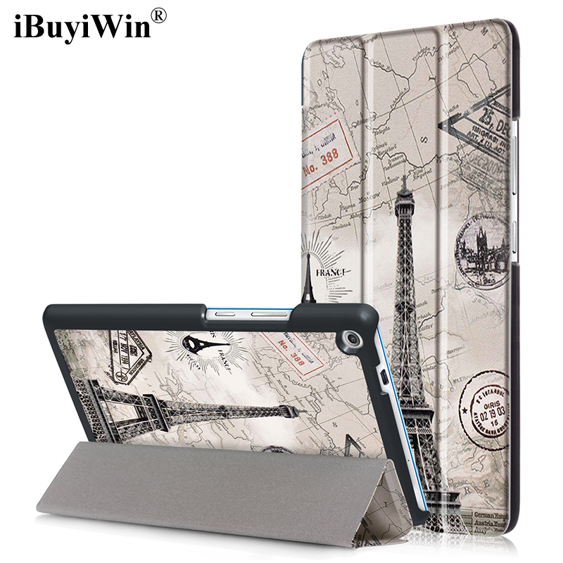 iBuyiWin 7.0 inch Tablet Case for Lenovo Tab 3 7 Plus TB-7703X TB-7703F PU Leather Case Slim Folding Stand Smart Cover+Film+Pen slim print case for acer iconia tab 10 a3 a40 one 10 b3 a30 10 1 inch tablet pu leather case folding stand cover screen film pen