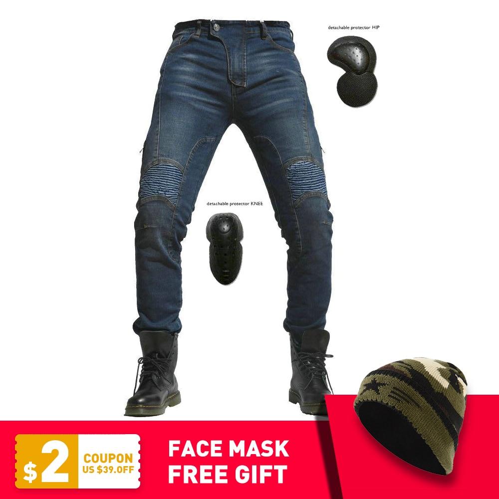 112f604a078 2019 New Motorcycle Pants Men Moto Jeans Protective Gear Riding Touring Motorbike  Trousers Motocross Pants Pantalon
