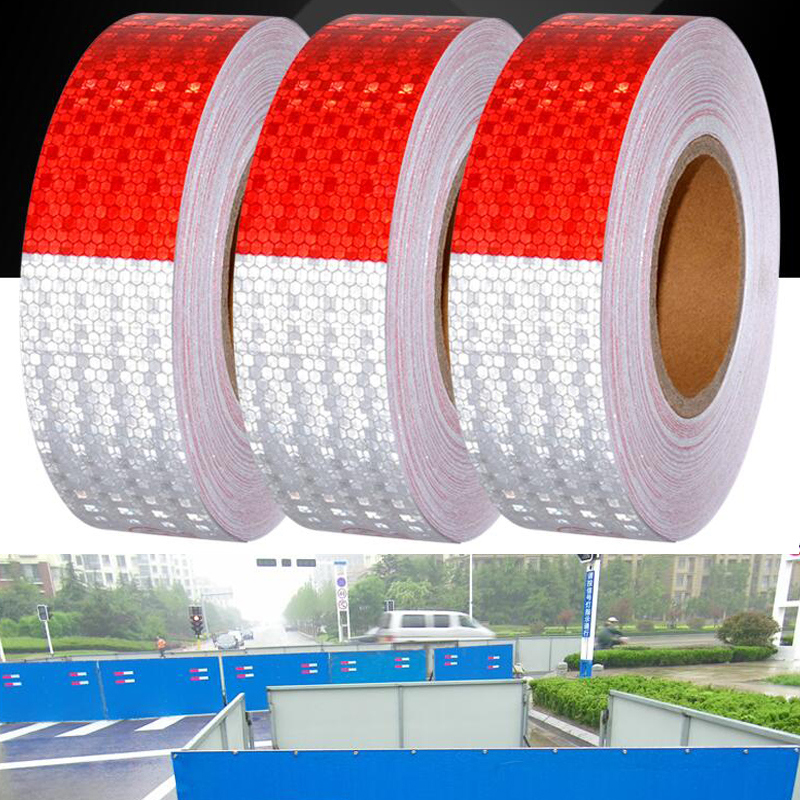Купить с кэшбэком 5cmx5m Reflective Tape Safety Caution Warning Reflective Adhesive Tape Sticker For Truck Motorcycle Bicycle Car Styling