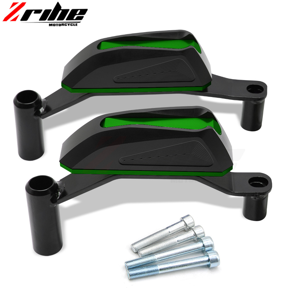 1 pair CNC For Kawasaki Z900 Z 900 17 18 Body Engine Guard Frame Sliders Crash Pads Case Drop Stick Protector of motorcycle Arms