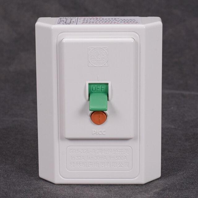 Aire acondicionado calentador de agua eléctrico piezas de repuesto interruptor de protección contra fugas interruptor de pared inteligente 500A 230V