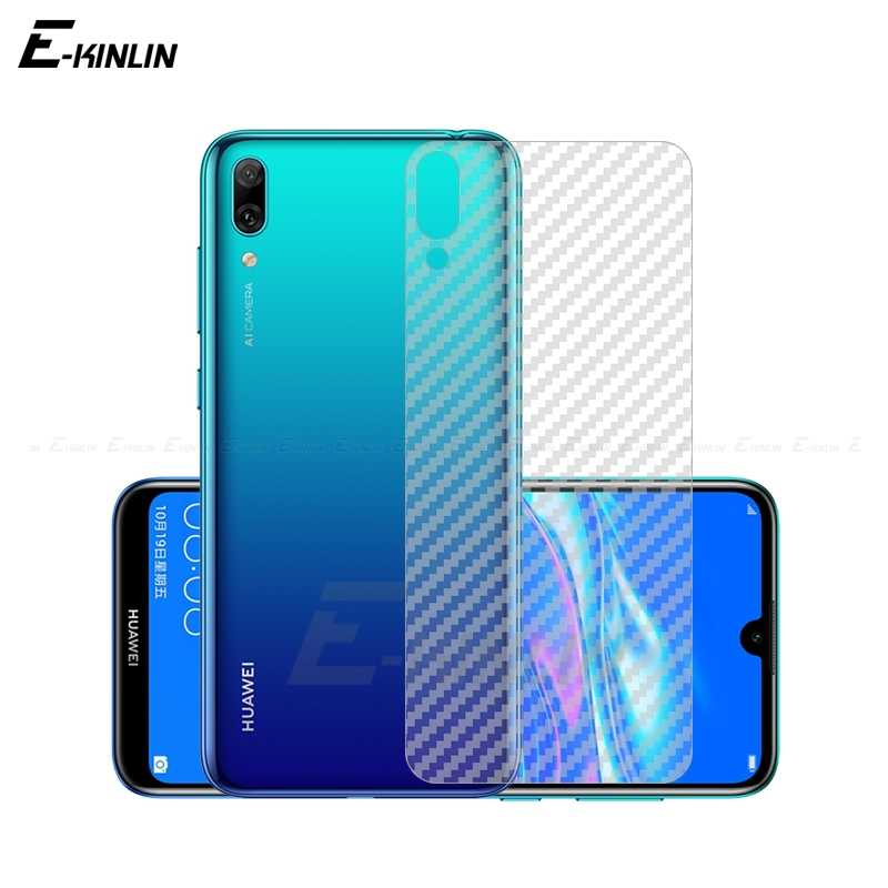 Clear Soft 3D Carbon Fiber Protective Guard Back Film For Huawei Y9 Y7 Y6 Y5 Pro Prime 2017 2018 2019 Rear Screen Protector