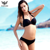NAKIAEOI 2017 New Sexy Crochet Bikini Swimwear Women Swimsuit Halter Retro Brazilian Bikini Set Bathing Suits