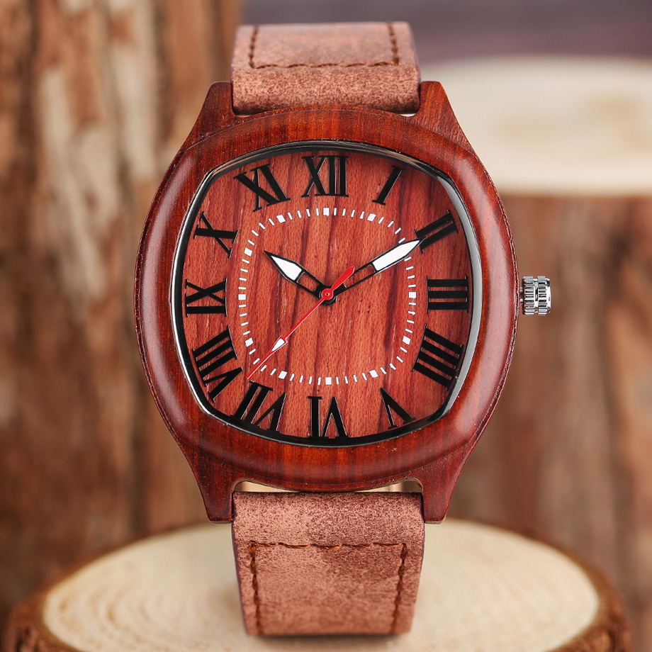 YISUYA Elegant Mens Wood Watches Top Brand Irregular Round Natural Bamboo Genuine Leather Quartz-watch Male Sports Gift 2017 (20)