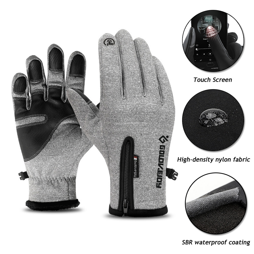 Winter Thermal Ski Gloves Men Women Kids Fleece Touch Screen Snowboard Gloves Outdoor Waterproof Snow Motorcycle Skiing Gloves(China)