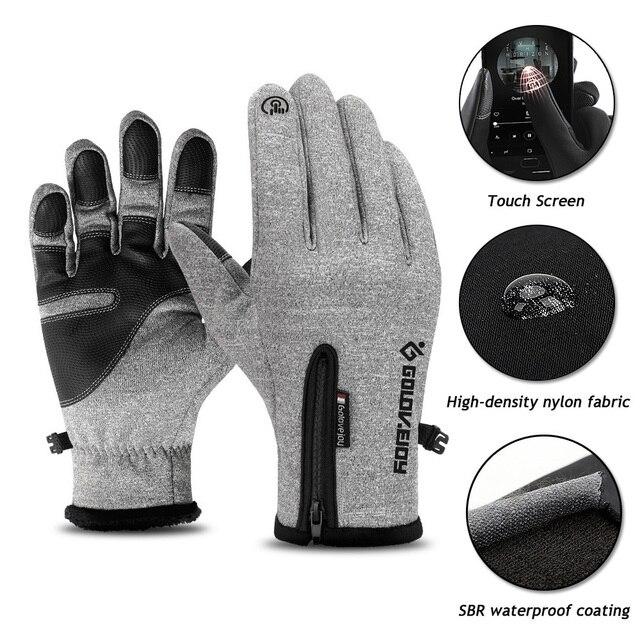 2018 новые зимние лыжные перчатки для мужчин и женщин с сенсорным экраном лыжные спортивные перчатки наружные непромокаемые и ветрозащитные теплые Нескользящие перчатки