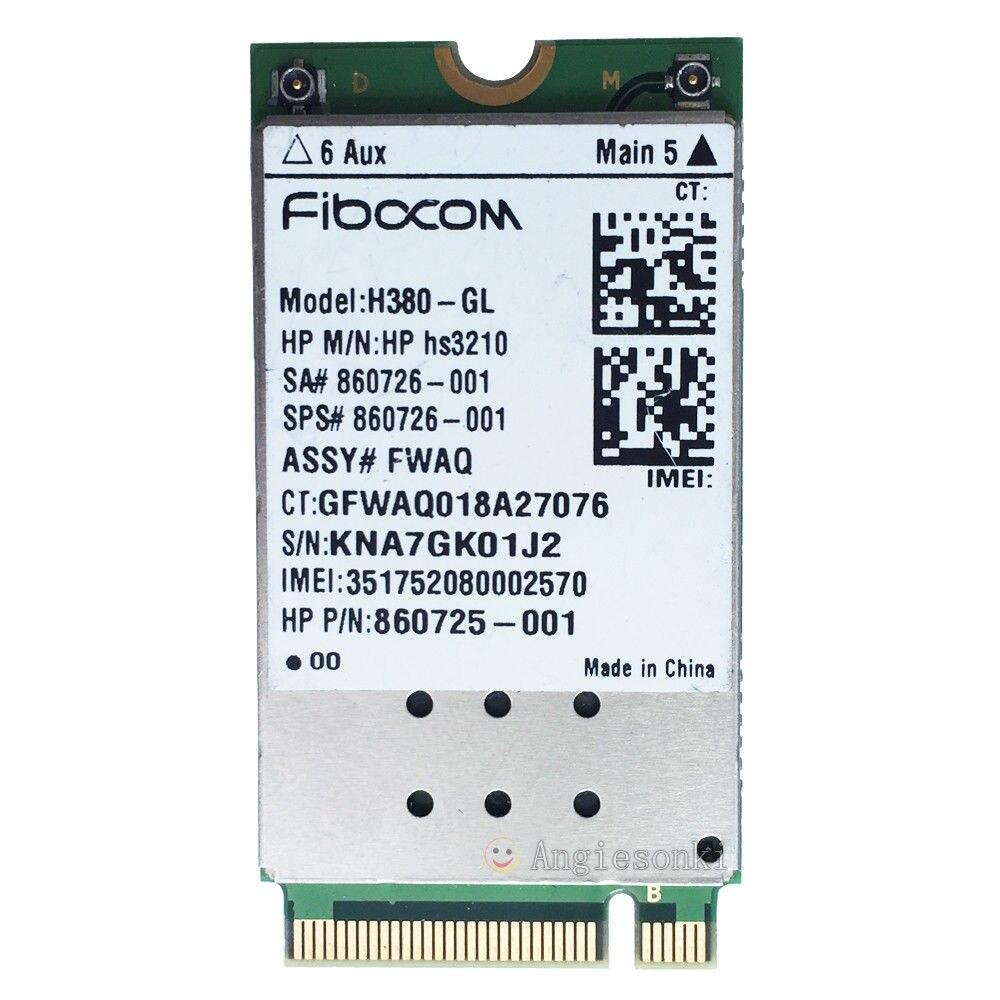 WWAN carte H380-GL HSPA + Module Mobile M.2 860726-001 pour HP ZBook 17/15/15u EliteBook 840/820 G4 G3 FIBOCOM HP hs3210WWAN carte H380-GL HSPA + Module Mobile M.2 860726-001 pour HP ZBook 17/15/15u EliteBook 840/820 G4 G3 FIBOCOM HP hs3210