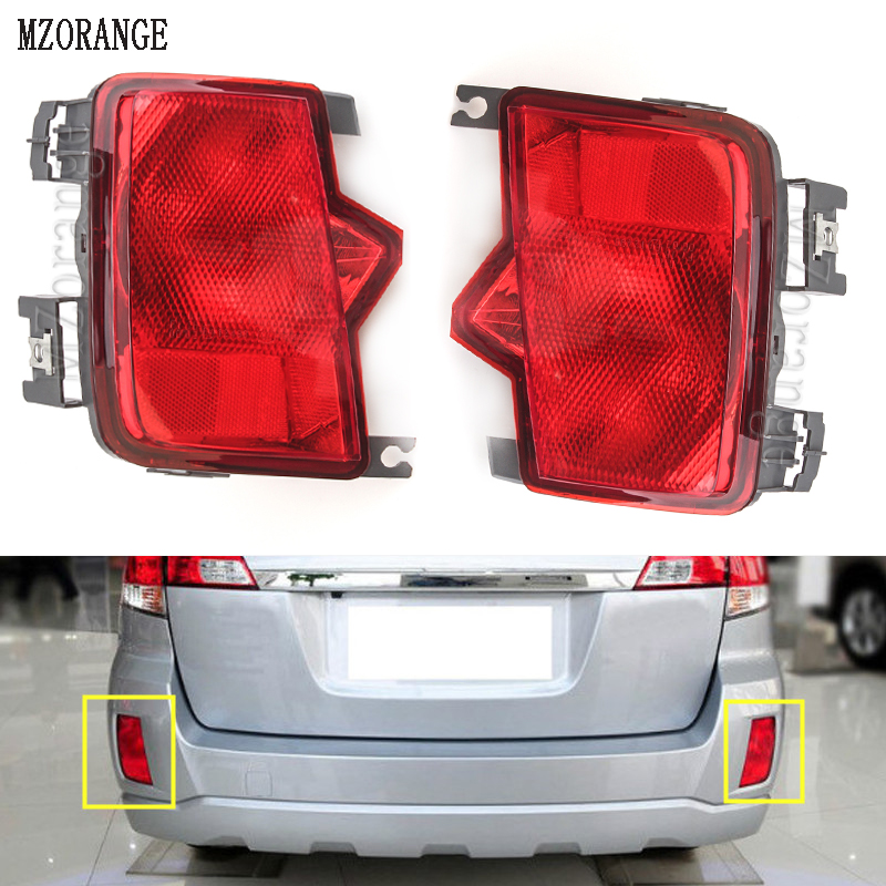 MZORANGE Car rear tail bumper reflector lamp fog light Clearance Lights For Subaru Outback 2009 2010 2011 2012 2013 2014 outback daytime light 2010 2014 free ship led outback fog light 2pcs set forester outback