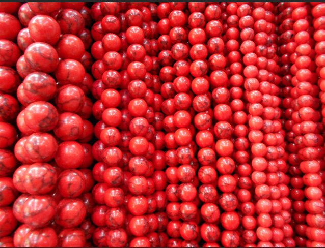 Sale High Quality Handmade Red Round Natural Stone Beads s