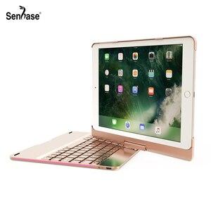 Image 1 - Coque avec clavier Bluetooth rotatif à 360 degrés, 7 couleurs, rétroéclairé, coque pour Apple iPad 9.7, 2017, Air 2, 5, 6 Pro 2018