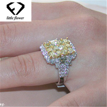 14K Zircon Gold Diamond Rings for Women Round Jewelry Wedding Engagement Gift Luxury Inlaid Stone Gemstone Females