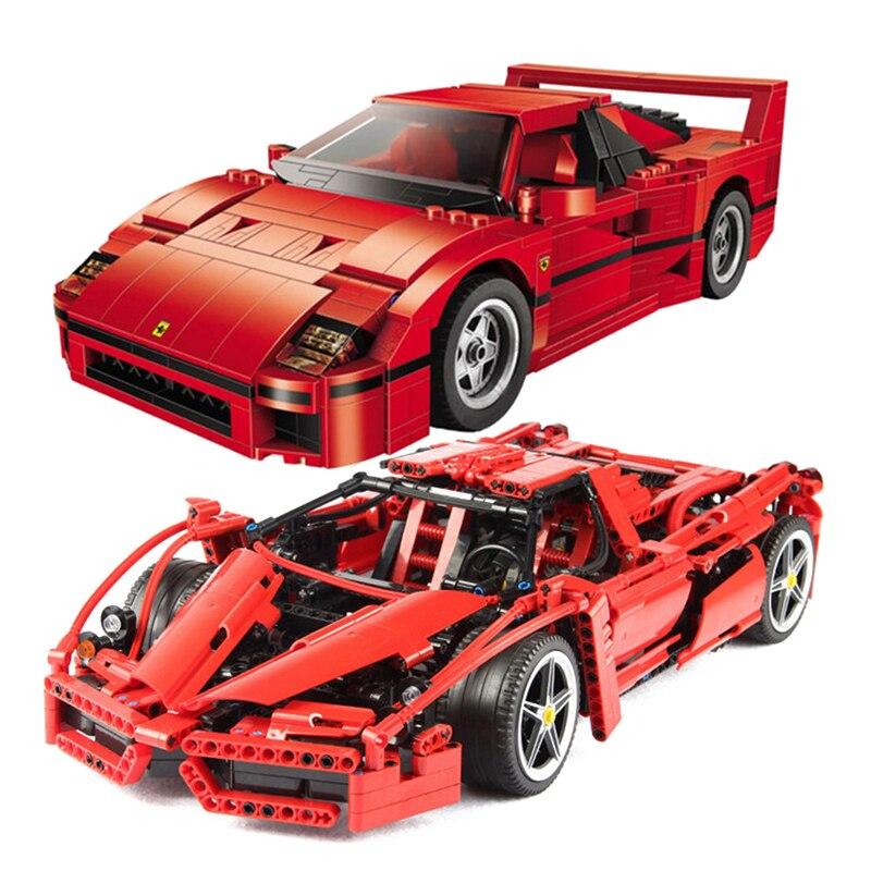Nouvelle technique MOC Set briques Ferrarie F1 F40 Enzo sport voiture modèle blocs de construction Kits jouets coureurs compatibles legoings 10248