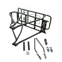 26inch 700C Black Bicycle Luggage Rack Double Layer Rear Carrier bicycle carrier bisiklet aksesuar for electric bike bisiklet