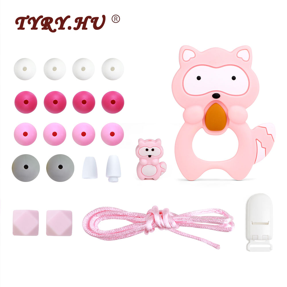 TYRY.HU BPA Free Silicone Baby Teether For DIY Baby Teething Necklace Pacifier Chain Bracelet Baby Teethers Silicon Bites Toys