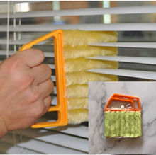 Useful Microfiber Window cleaning brush air Conditioner Duster cleaner with washable venetian blind blade cloth