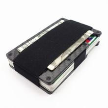Men Fashion RFID Wallet Carbon Fiber Metal Holder Business Credit Card Case Money & ID Holder Slim Women Wallet Purse