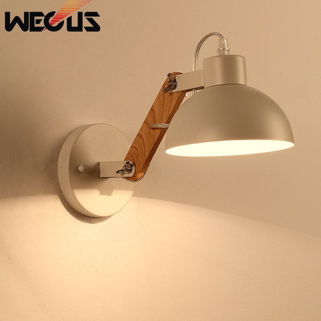 Creative White Black Simple Light Fixtures Kitchen Dining Room Bedroom Foyer Wall Lamps Indoor Decoration