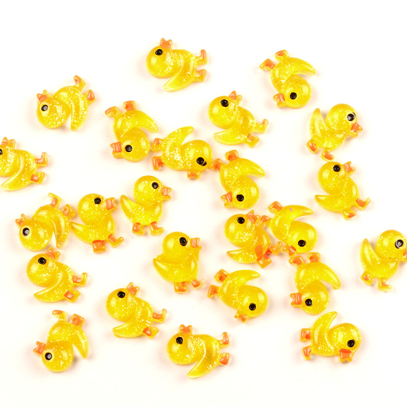 50Pcs Mixed Duck Resin Decoration Crafts Beads Flatback Cabochon Scrapbook Hair Clips DIY Embellishments Accessories Buttons