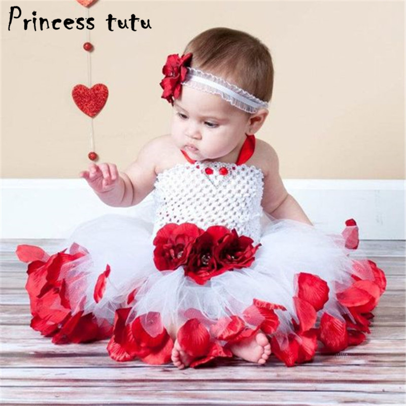 Sweet Baby Dress Baby Girl Clothes Heart Pattern Rose