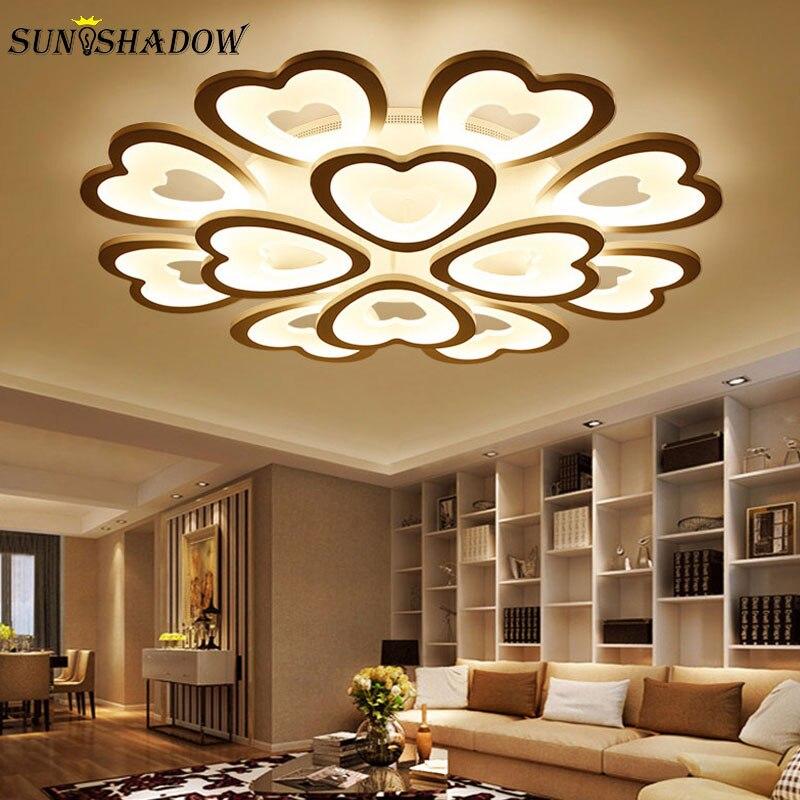 Weiß Leuchtet Moderne Led-deckenleuchte Für Wohnzimmer Schlafzimmer Küche Koryphäen Acryl Einfache Led-deckenleuchte Hause Leuchten