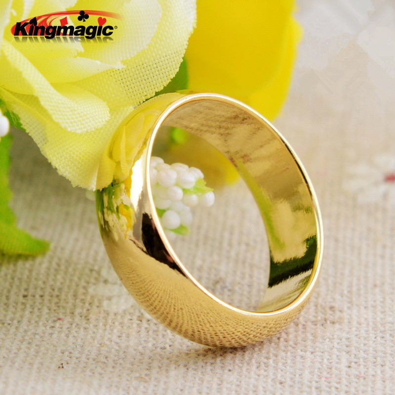 Gold Cambered PK Ring Strong Magnetic Ring PK Ring Magic Show Magic Props Magic Tricks Size 18 19 20 21mm