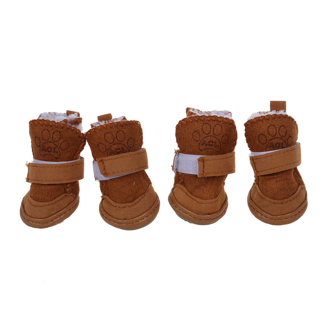 HOT Pet Dog Snow Shoes Warm Winter Boots Protective Booties Set of 4 Coffee Size 1 ...