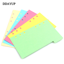 New Notebook Accessories A5 A6 A7 Solid Color Page Inside Pages Planner Papers Cute Notebook Matching  Stationery a5 a6 a7 solid color page 6 holes inside pages planner papers cute notebook matching stationery