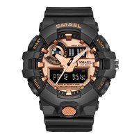 SMAEL Luxury Brand Camouflage Militar Style S Shock Watch Men Analog Date Male Silicone Wristwatches Clock