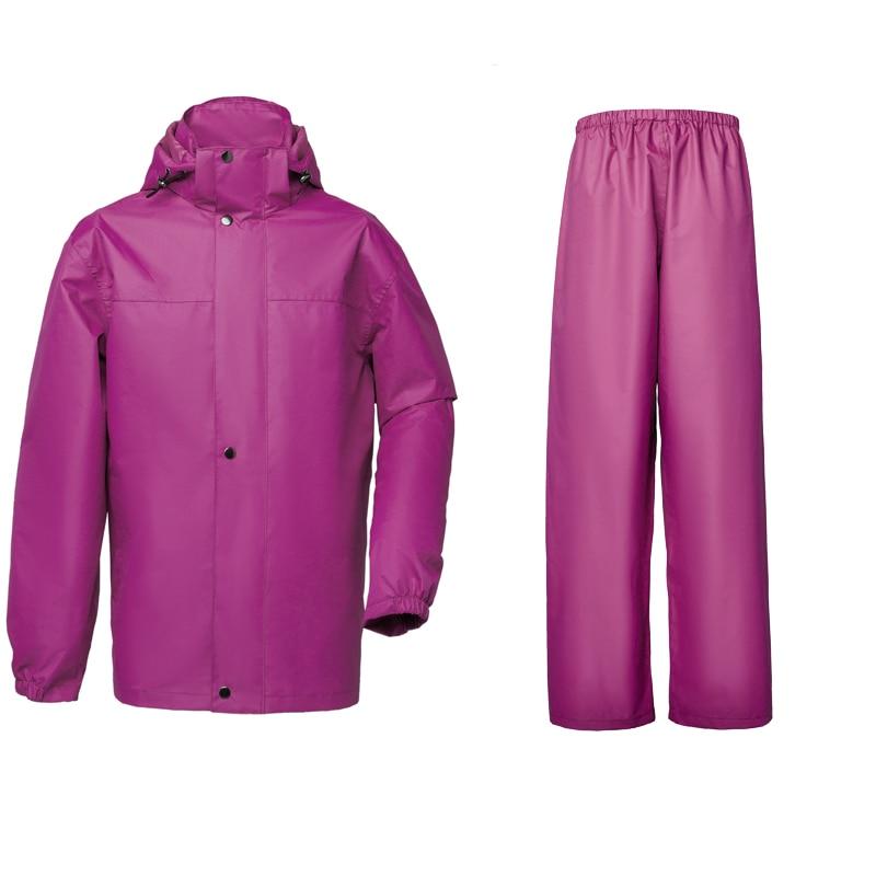Yuding raincoat suit fishing rain pants heavy rain gear for Women s ice fishing suit