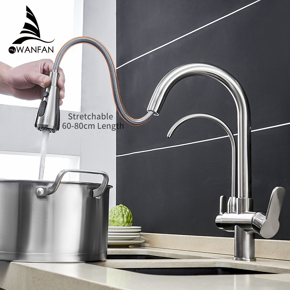 Kitchen Faucets torneira para cozinha de parede Crane For Kitchen Water Filter Tap Three Ways Sink Mixer Kitchen Faucet WF-0195Kitchen Faucets torneira para cozinha de parede Crane For Kitchen Water Filter Tap Three Ways Sink Mixer Kitchen Faucet WF-0195