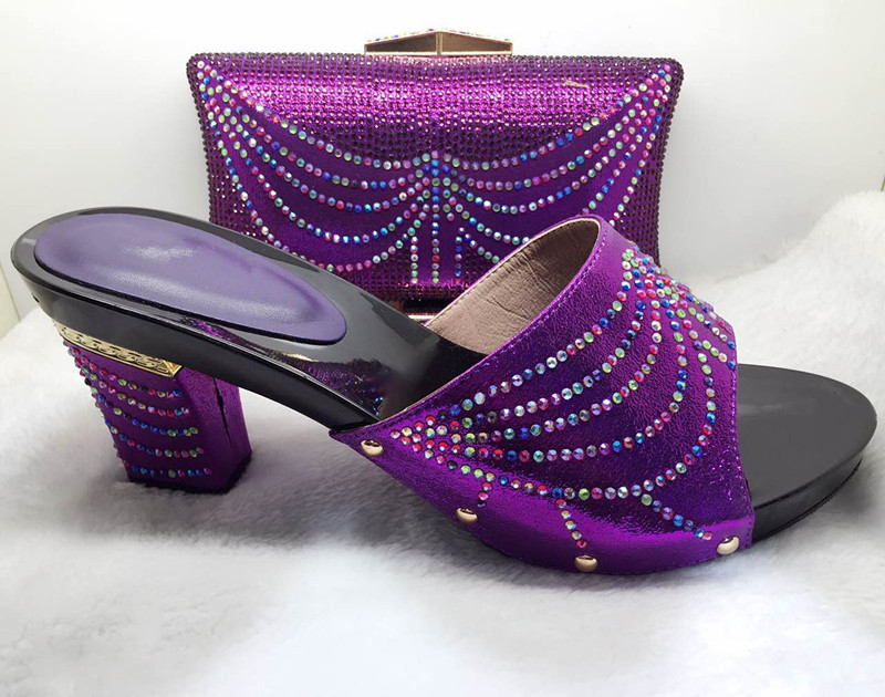 2017 New coming African sandals Italian shoes and bags to match shoes with bag set purple!SIZE 37-43 2017 new coming italian fashion black ab
