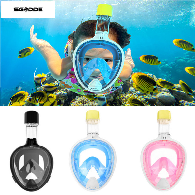 <font><b>Mask</b></font> Snorkel Kids Adult Scuba Camera Snorkel Swimming <font><b>Masks</b></font> Underwater Anti Fog <font><b>Full</b></font> Face Snorkeling Diving Equipment For GoPro