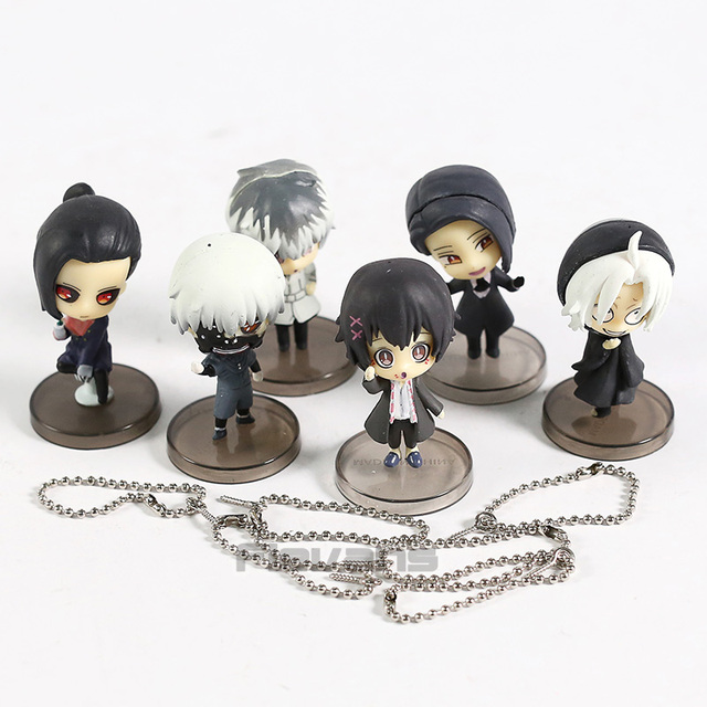 Lote de Figura de (6 unids/set) de Tokyo Ghoul Re Kaneki Ken, Sasaki Haise, Takizawa Juuzou, Uta Furuta (5cm) Figuras Tokyo Ghoul